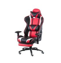 Кресло для руководителя Special4You ExtremeRace black/red with footrest